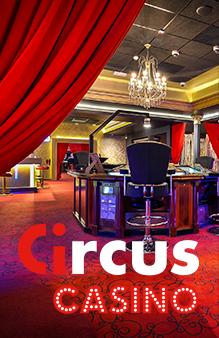 Intérieur d'une salle de jeu Circus Casino