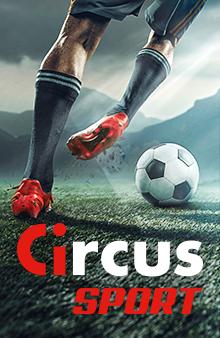 Circus Sport, jambes de footballeur avec un ballon